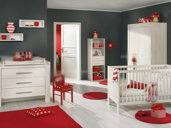 三室一厅现代简约婴儿房