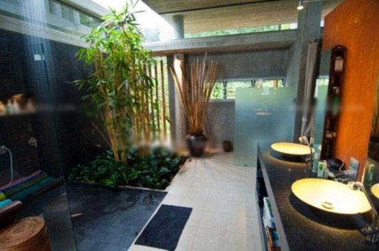 别墅东南亚风格卫生间
