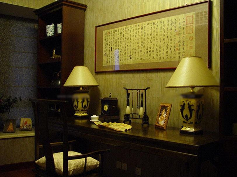 复式楼中式风格书房