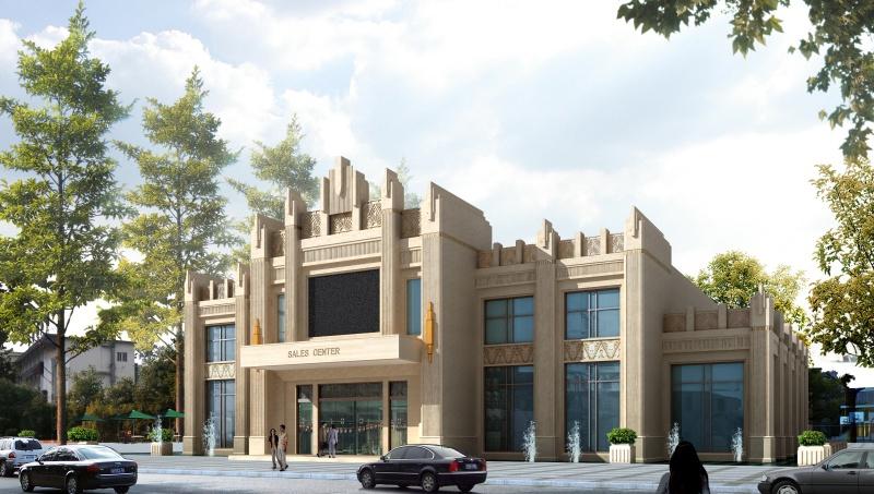 售楼处装修效果图大全2012图片