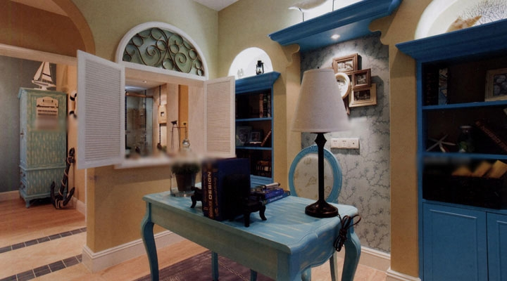 三居室地中海风格书房