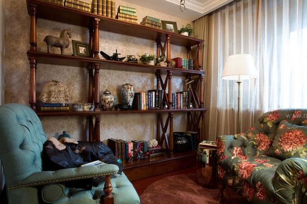 三室两厅混搭风格书房