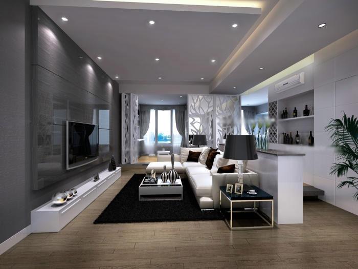 大户型现代简约客厅_客厅设计图现代简约风格客厅