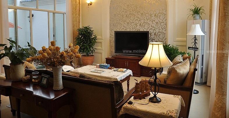 复式楼美式风格客厅