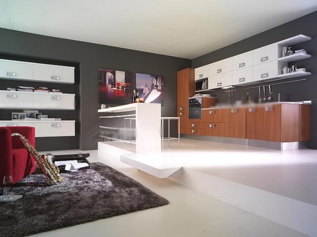 三室一厅现代风格厨房