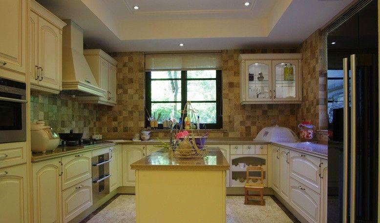 欧洲大厨房设计装修效果图