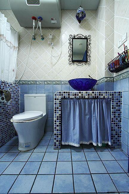 三居室地中海风格卫生间