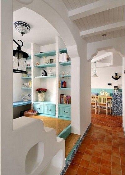 兩室兩廳地中海風格書房