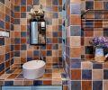 多彩瓷砖的卫生间装修效果图