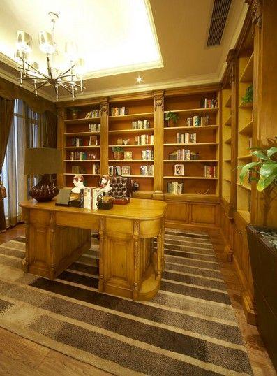 別墅歐式風格書房