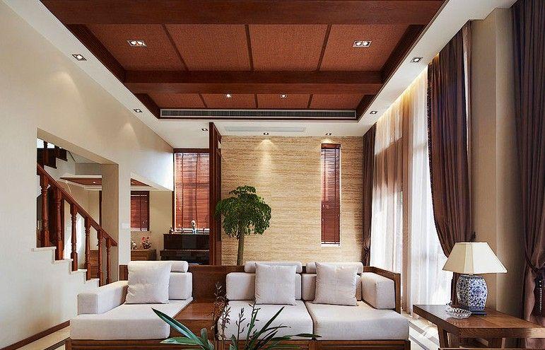 复式楼东南亚风格客厅