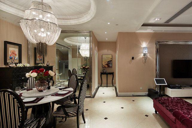 客厅与餐厅的过道装修效果图