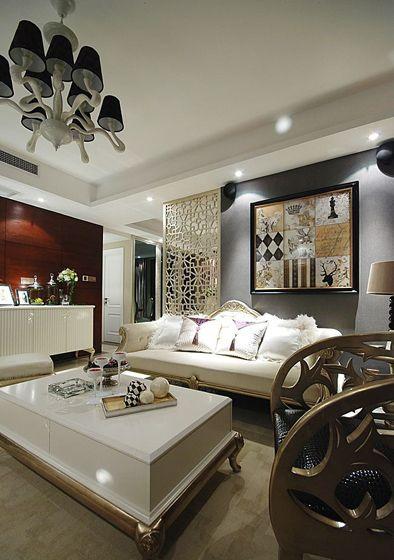 时尚古典客厅装修效果图