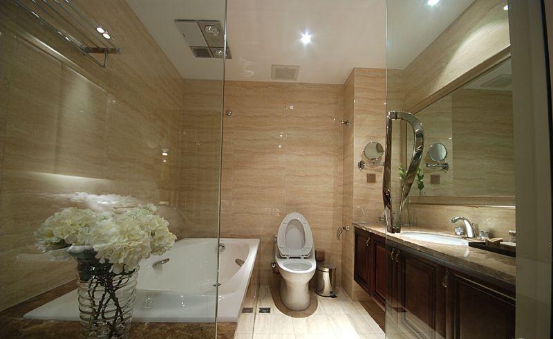 主卧室里的厕所隔墙装修效果图
