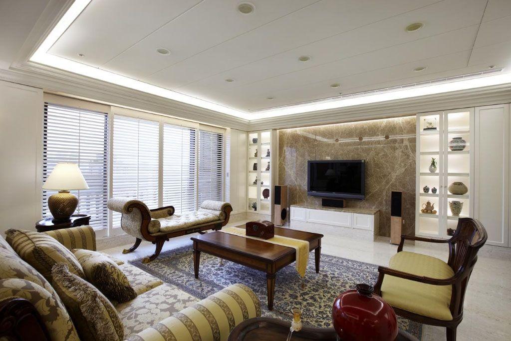 奢华客厅新古典2装修效果图