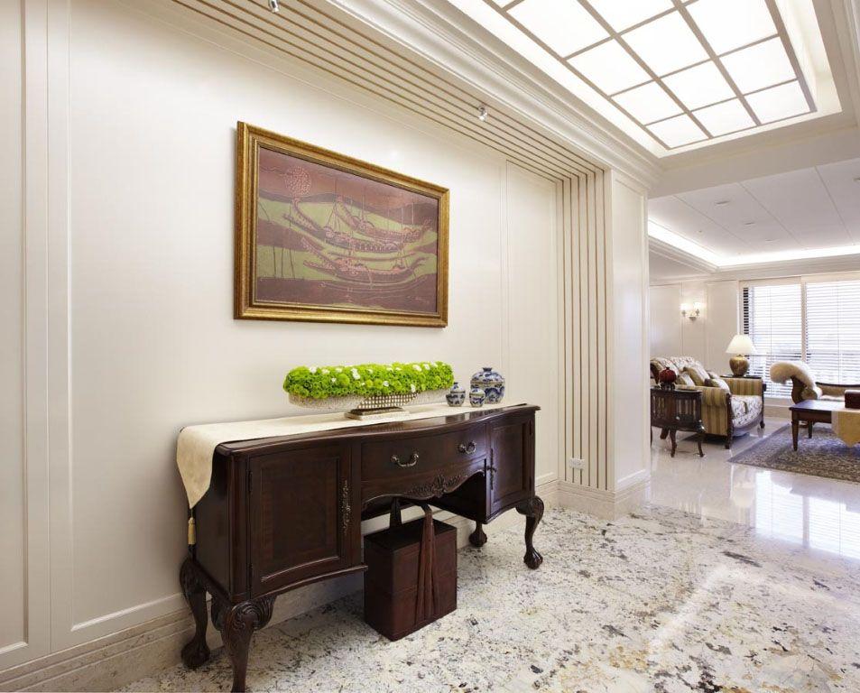 跃层美式风格玄关客厅隔断