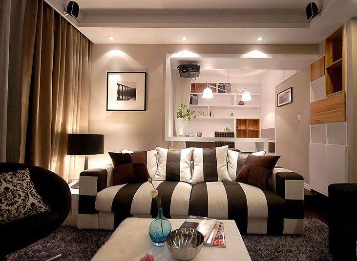 三居室现代风格客厅客厅隔断
