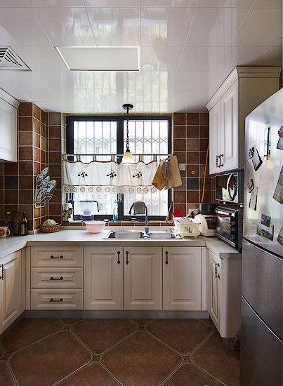 美式厨房设计装修效果图