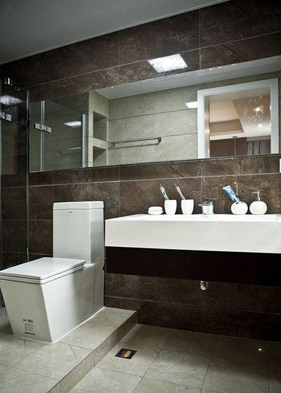 现代感的卫生间装修效果图