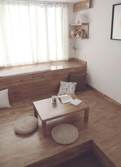 两居室日式风格休闲区榻榻米