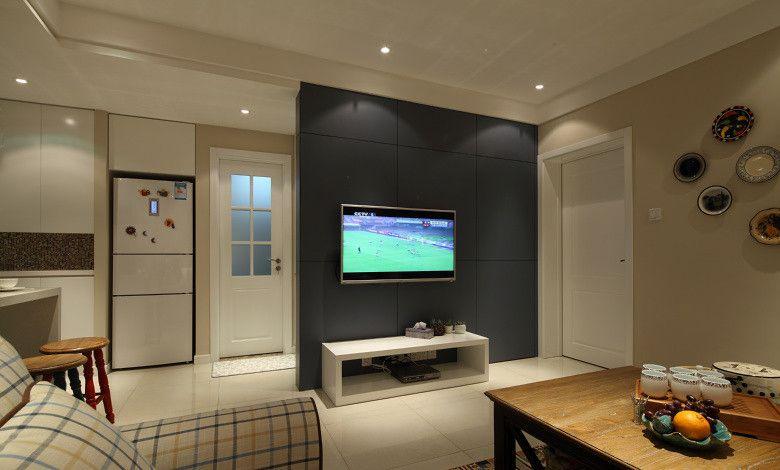 两室一厅田园风格客厅电视背景墙