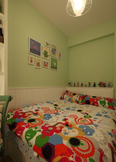 两室一厅田园风格儿童房