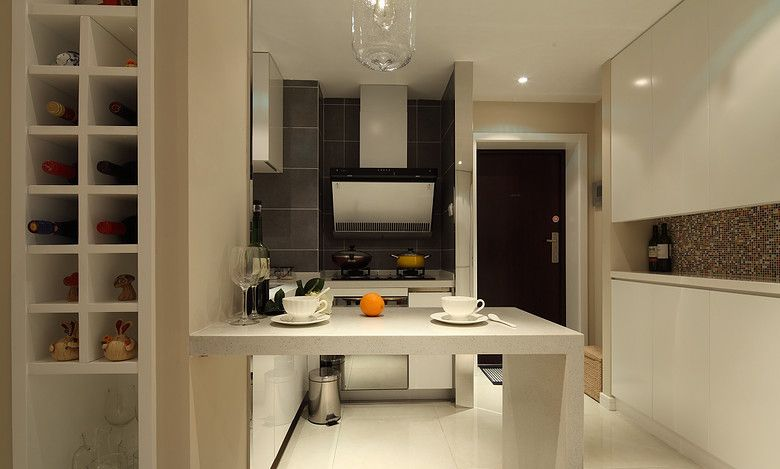开放式小厨房装修效果图