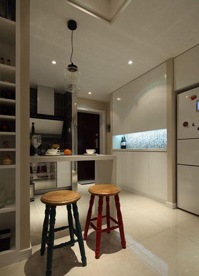 两室一厅田园风格厨房隔断