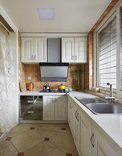 美式田园厨房装修效果图