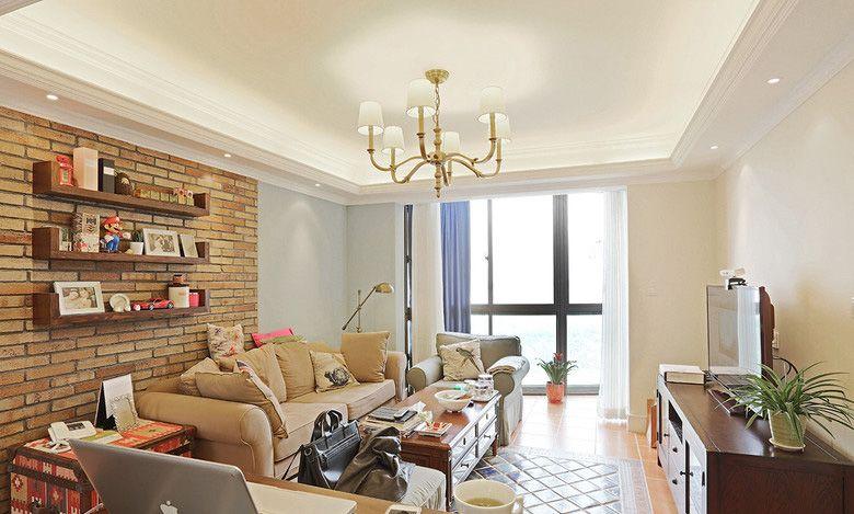 美式风格客厅2装修效果图