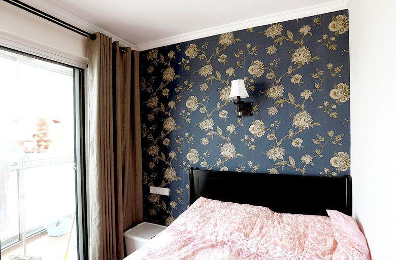 美式客卧墙纸装修效果图