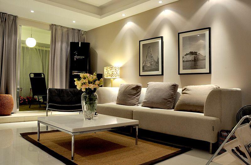 两室两厅现代简约客厅榻榻米