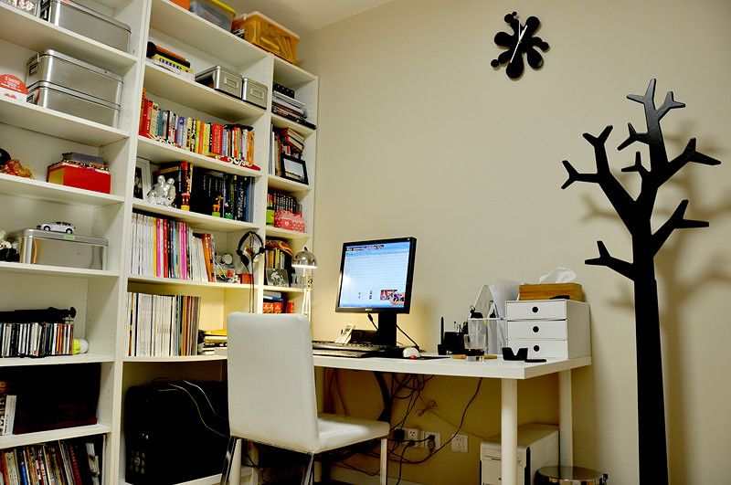 现代书房设计装修效果图