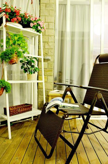 休闲阳台花园装修效果图