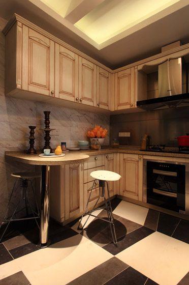 新古典厨房的仿古风装修效果图