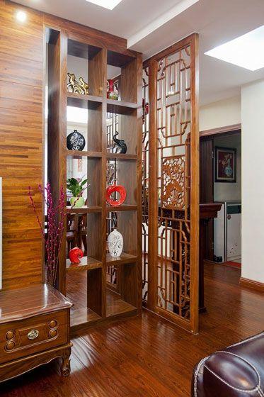 中式客厅隔断设计装修效果图