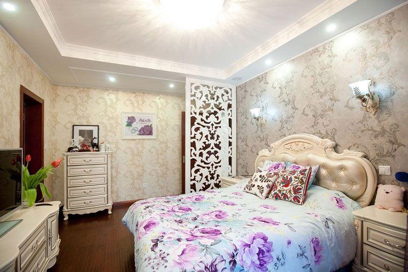 大户型新古典主卧室卧室背景墙