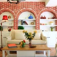客厅红砖背景墙装修效果图