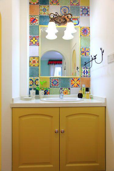 多彩洗手间装修效果图