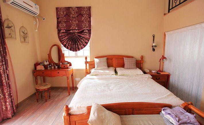 复式楼地中海风格主卧室卧室背景墙