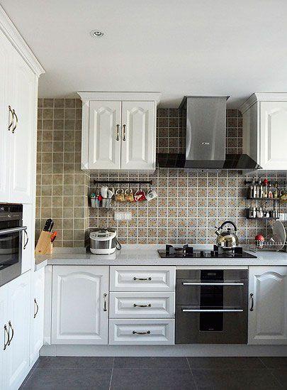 美式开放厨房装修效果图