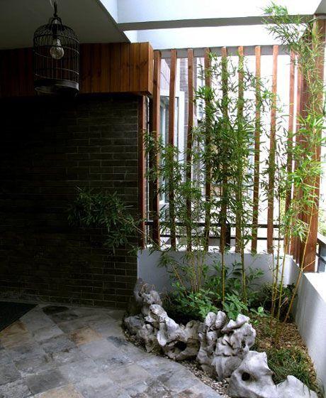 复式楼中式风格阳台花园入户花园