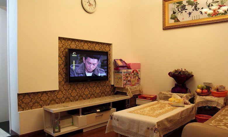 内嵌式电视背景墙装修效果图