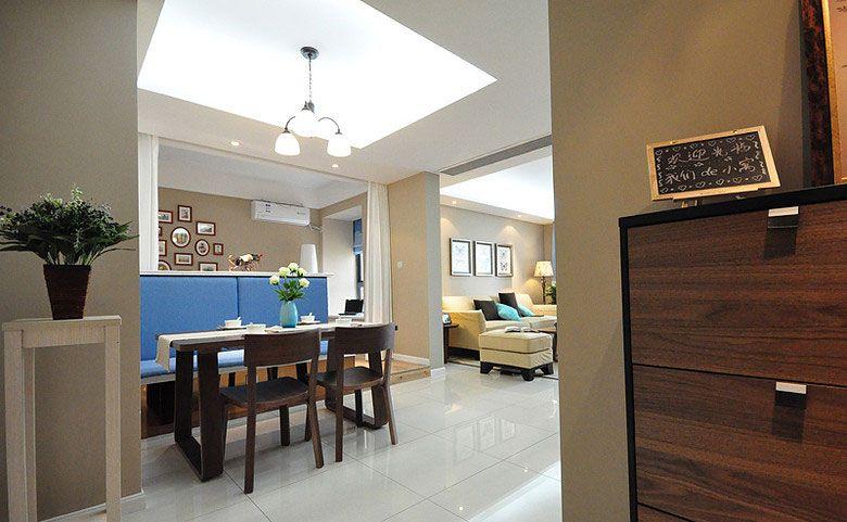 三室一厅现代风格餐厅