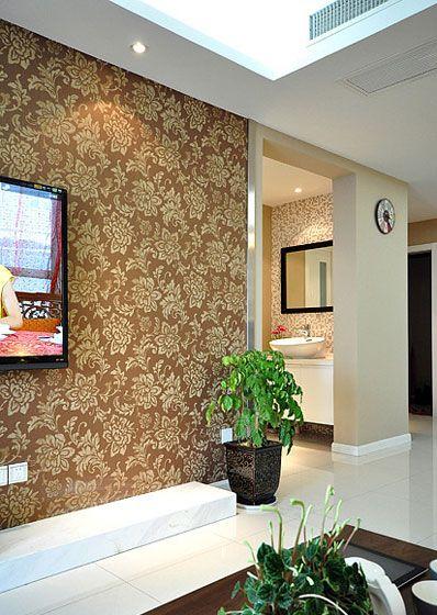 客厅墙纸装修效果图