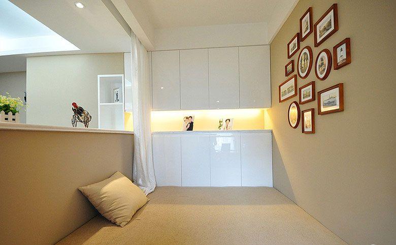 三室一厅现代风格休闲区榻榻米
