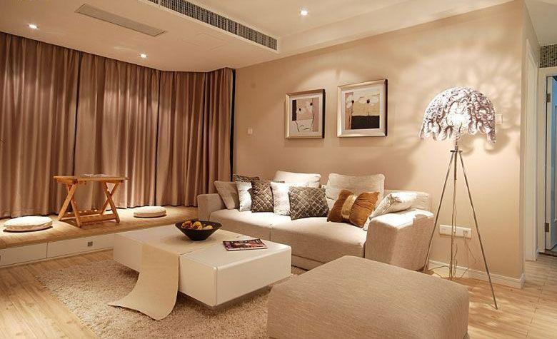 两居室现代简约客厅地台