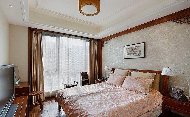 古朴中式卧房装修效果图图片