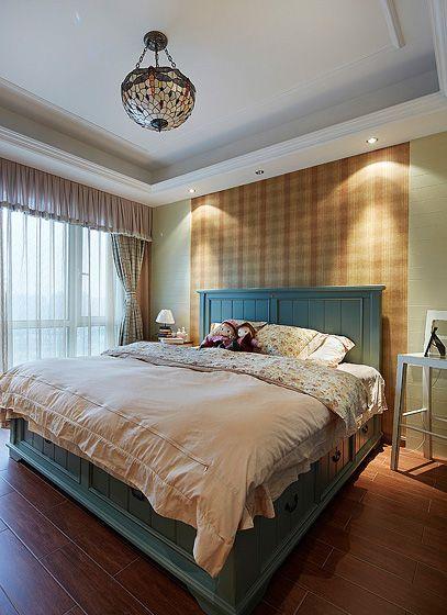 美式风格主卧室卧室背景墙
