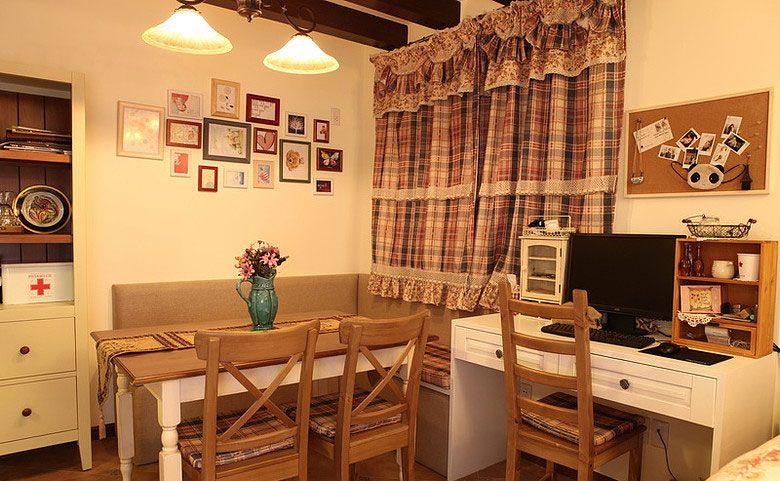 小户型乡村风格餐厅照片墙